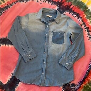 7 For All Man Kind Denim Boyfriend Shirt